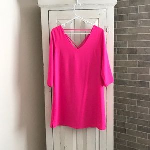 Skies Are Blue Hot Pink Sheath Dress Size Medium
